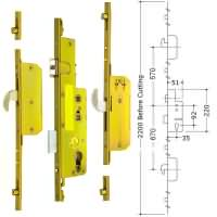 Avocet 2 Hook 4 Roller Multipoint upvc Door Lock