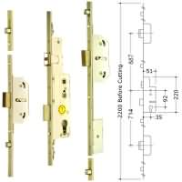 Avocet 3 Deadbolt 4 Roller Multipoint upvc Door Lock