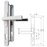 Flexi-Handle Adjustable 60-95PZ upvc door Handles