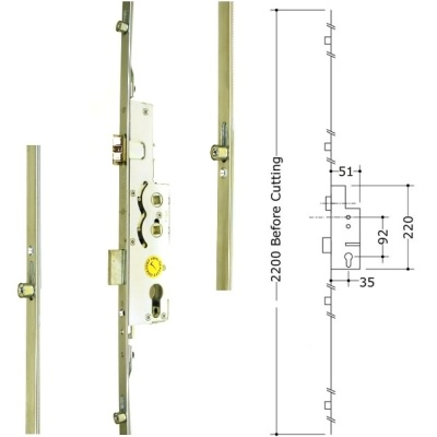 Avocet 4 Roller 1 Deadbolt Multipoint Upvc Door Lock