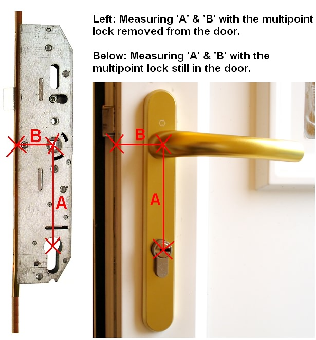 Backset Measurement : 3 upvc door locks upvc window locks upvc door ...
